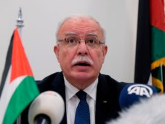 Palestinian foreign minister Riad Malki (Mike Corder/AP)