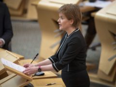 First Minister Nicola Sturgeon said progress would be made in closing the attainment gap if she is returned to power (Jane Barlow/PA)