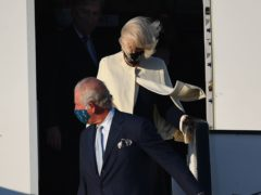 The Prince of Wales and the Duchess of Cornwall arrive at Athens International Airport in Greece (Victoria Jones/PA)