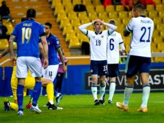 Northern Ireland were left to rue first-half lapses in defeat to Italy (Alessio Marini/PA)