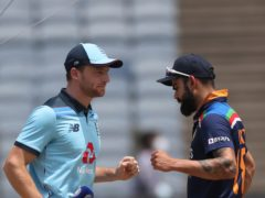 Jos Buttler will go head to head with Virat Kohli's India in Sunday's ODI decider (Rafiq Maqbool/AP)