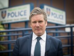 Labour leader Sir Keir Starmer visiting Milton Keynes Police Station (Stefan Rousseau/PA)