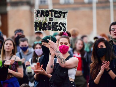 The proposed Police, Crime, Sentencing and Courts Bill would give police in England and Wales more power to impose conditions on non-violent protests (Ben Birchall/PA)