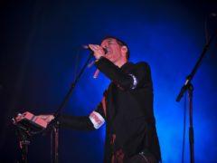 Robert Del Naja performs with Massive Attack at Glastonbury (Ben Birchall/PA)