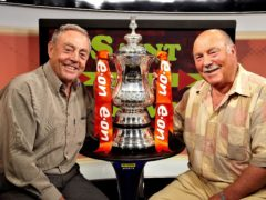 Ian St John, left, and Jimmy Greaves fronted a successful television show (Setanta/PA)