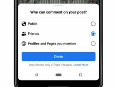 People who share something publicly can now choose to limit comments to friends or only those tagged in it (Facebook/PA)