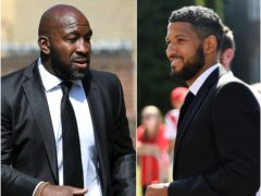 Darren Moore, left, and Jobi McAnuff have new jobs in management (Joe Giddens/PA)