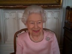 The Queen on her video call to Australia (Buckingham Palace/PA)