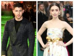 Nick Jonas and Lily Collins (PA)
