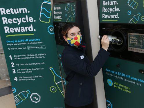 Lidl is trialling a new return deposit scheme (Stewart Attwood/PA)