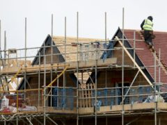 Nicola Sturgeon pledged 100,000 affordable homes will be built over the next decade if the SNP is re-elected in May (PA)