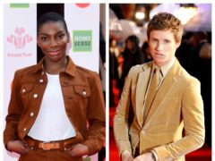 Michaela Coel and Eddie Redmayne (PA)