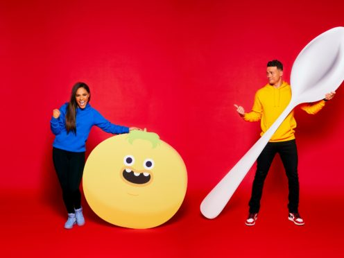 LONDON, ENGLAND – FEBRUARY 11: The One ShowÕs Alex Scott and Jermaine Jenas go head-to-head as they compete in the ultimate Red Nose and Spoon Race for Red Nose Day 2021. Alongside some incredible teammates from Comic Relief funded projects across the UK, theyÕll be hoping to keep noses firmly on spoons whilst attempting to hike an epic distance of three marathons in just three days. (photo by Nicky Johnston/Comic Relief via Getty Image)