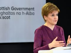 Nicola Sturgeon said it would not be 'business as normal' with Covid-19 briefings during the election campaign. (Andy Buchanan/PA)