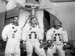The 3 members of the Apollo crew (PA)
