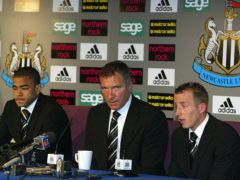 Lee Bowyer (right) and Kieron Dyer both issued apologies in a post-match press conference following their on-pitch brawl (Owen Humphreys/PA)