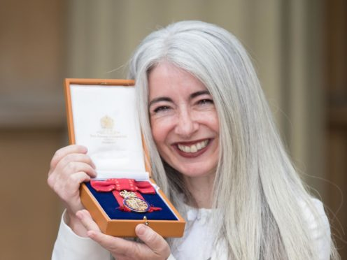 Evelyn Glennie after receiving her Dame Commander by the Prince of Wales at Buckingham Palace (Steve Parsons/PA)