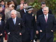 The Prince of Wales (left) and the Duke of York (Joe Giddens/PA)