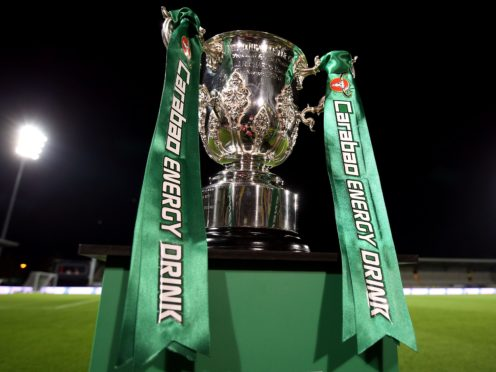 The Carabao Cup final is being used as a pilot event for the return of fans (Nigel French/PA)