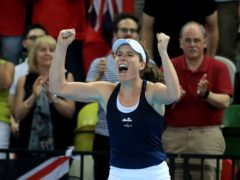 Johanna Konta helped Great Britain to reach World Group II in the Billie Jean King Cup in 2019 (Adam Davy/PA)
