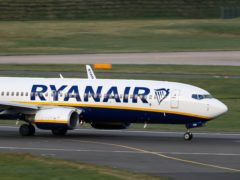 Ryanair's grounds for refusing to compensate passengers affected by industrial action have been rejected by the High Court, according to the aviation regulator (Steve Parsons/PA)