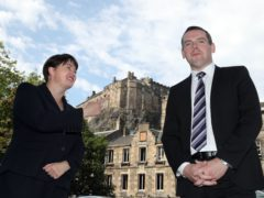 Scottish Conservative leader Douglas Ross was asked if he felt overshadowed by the high profile role of predecessor Ruth Davidson in the Tories' election campaign (Andrew Milligan/PA)