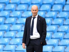 Zinedine Zidane, pictured, will hope Real Madrid can shake off any lingering Super League worries for their Champions League clash with Chelsea (Peter Powell/PA)