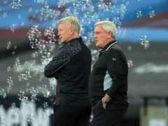 Newcastle boss Steve Bruce, right, has saluted West Ham counterpart David Moyes, left, ahead of their clash on Saturday (Adam Davy/PA)