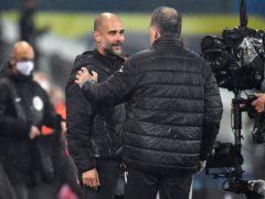 Manchester City manager Pep Guardiola (left) is a big admirer of Leeds boss Marcelo Bielsa (right) (Paul Ellis/PA)