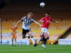 Nathan Smith, left, scored the only goal of the game for Port Vale (Zac Goodwin/PA)