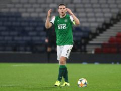 Hibernian's Paul Hanlon is wary of the threat posed by Stranraer (Andrew Milligan/PA)