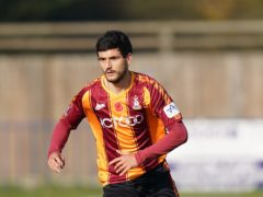 Anthony O'Connor broke the deadlock for Bradford three minutes before the break (Tess Derry/PA)