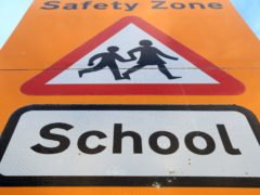A school sign (Mike Egerton/PA)