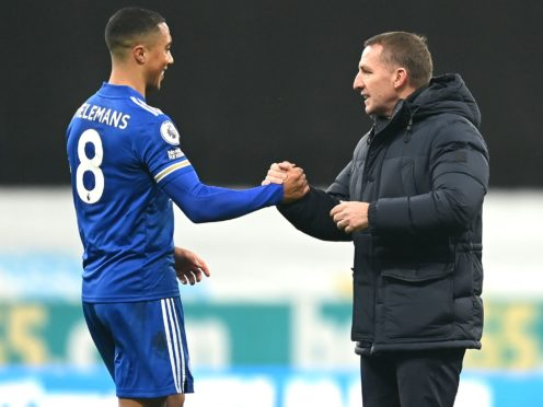 Brendan Rodgers, right, wants to entice stars like Youri Tielemans to stay (Michael Regan/PA)