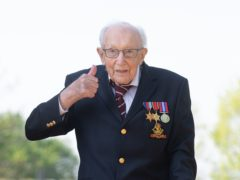 People are being asked to complete their own Captain Tom 100 charity challenge on the weekend on what would have been Captain Sir Tom Moore's 100th birthday, from April 30 (Joe Giddens/ PA)