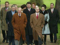 The Duke of Edinburgh with members of his family