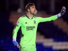 Ipswich goalkeeper Tomas Holy was in fine form against MK Dons (Mike Egerton/PA)
