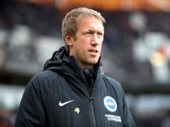 Graham Potter knows Brighton will be up against it at Old Trafford (Nick Potts/PA)