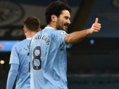 Ilkay Gundogan feels pressure has been lifted at Manchester City following their Champions League win over Dortmund (Rui Vieira/PA)