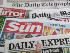 What the papers say – April 30 (Andrew Matthews/PA)