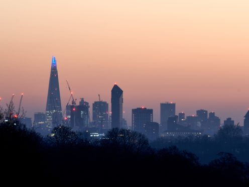 A view of the City of London from Richmond Park (PA)