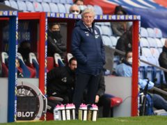 Roy Hodgson is out of contract with Crystal Palace at the end of the season (Glyn Kirk/PA)