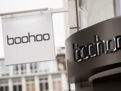 Signage on a boohoo store in London (Ian West/PA)