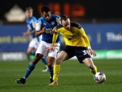 Brandon Barker, right, has a hamstring injury and is a doubt for Oxford (Andrew Matthews/PA)