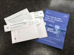 NHS Test and Trace Covid-19 self-testing kits (PA)