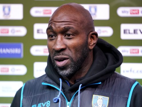Darren Moore will not be in the Sheffield Wednesday dugout on Tuesday (Zac Goodwin/PA)
