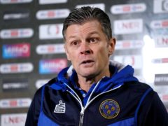 Shrewsbury manager Steve Cotterill is set to make his return to football after four months away through illness (Zac Goodwin/PA)