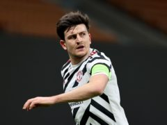 Skipper Harry Maguire is among three Manchester United players suspended for the Europa League quarter-final second-leg clash with Granada (Fabrizio Carabelli/PA)