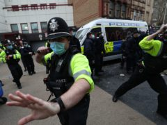 Police outside Bridewell Police Station (Andrew Matthews/PA)