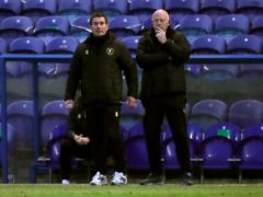 Nigel Clough (left) insists Mansfield cannot ease off (Simon Marper/PA)